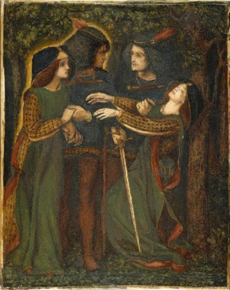 Dante Gabriel Rossetti, 'How They Met Themselves', watercolour version, c. 1860-64